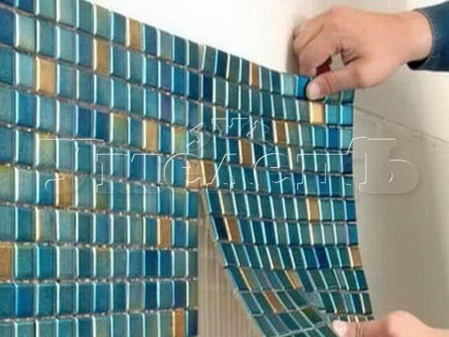 Облицовка стен мозаикой. Стены облицовка. Ремонт квартир в Москве и Подмосковье.
