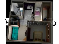 4 - 3D план квартиры 4