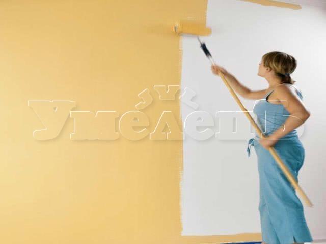 Окраска стен 2 слоя. Стены облицовка. Ремонт квартир в Москве и Подмосковье.
