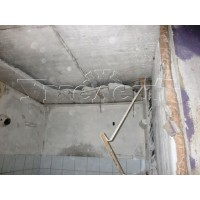 Демонтаж потолка санузла железобетон до 5 см