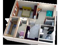 2 - 3D план квартиры 2