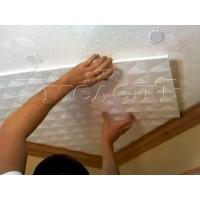 Оклейка потолка пенопластовыми панелями