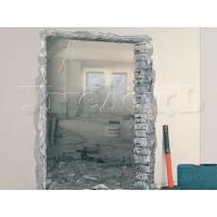 Пробивка проема стена толщиной 1/2 кирпича