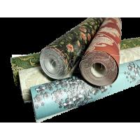 Оклейка потолка текстильными обоями