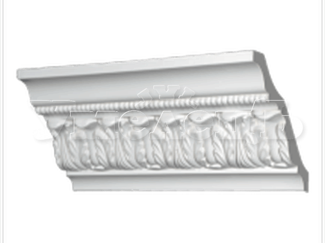 Грунтовка багета из полиуретана шириной до 150 мм. Стены отделка. Ремонт квартир в Москве и Подмосковье.