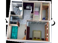 3 - 3D план квартиры 3