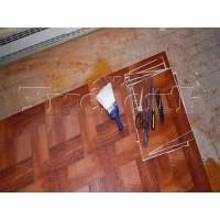 Демонтаж кварцвиниловой плитки или ПВХ плитки