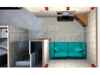 10 - 3D план гостиной и коридора