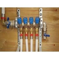 Установка гребенки отопления водоснабжения