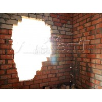 Демонтаж стен толщиной 1/2 кирпича