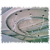 Монтаж потолка ГКЛ 2 уровня