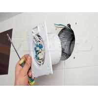 Демонтаж вентилятора вытяжки вентиляции