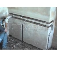 Штробление стены кирпич пенобетон пазогребневый блок под трубы водопровода