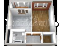 1 - 3D План принятой квартиры от застройщика.
