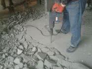 Удаление бетонной стяжки пола