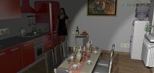 Кухня 3D вид проекта