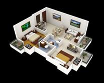 Образец квартиры в 3D