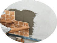 Оклейка плиткой ванной комнаты