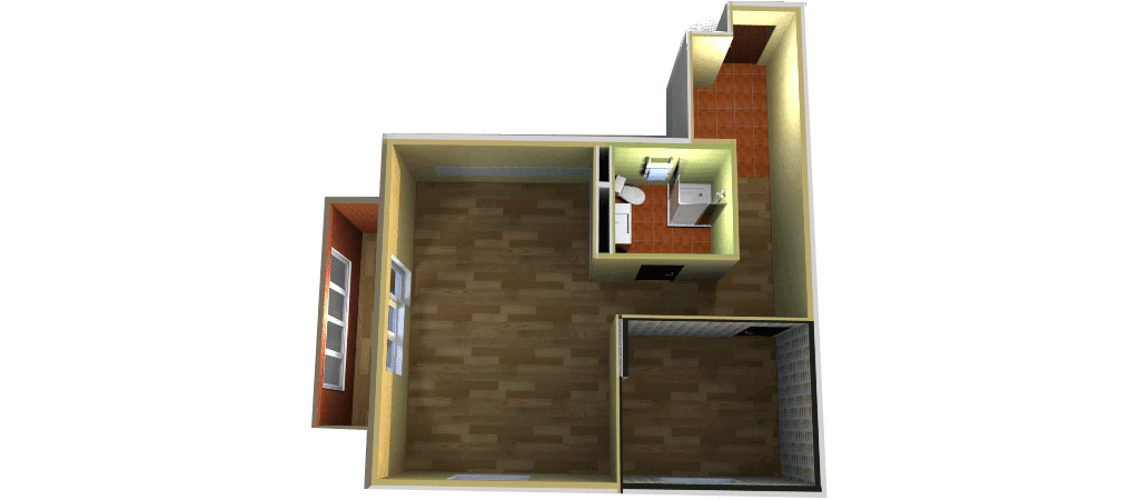 Дизайн проект квартиры, 3D макет ЖК 'Успенские горки', Московская область