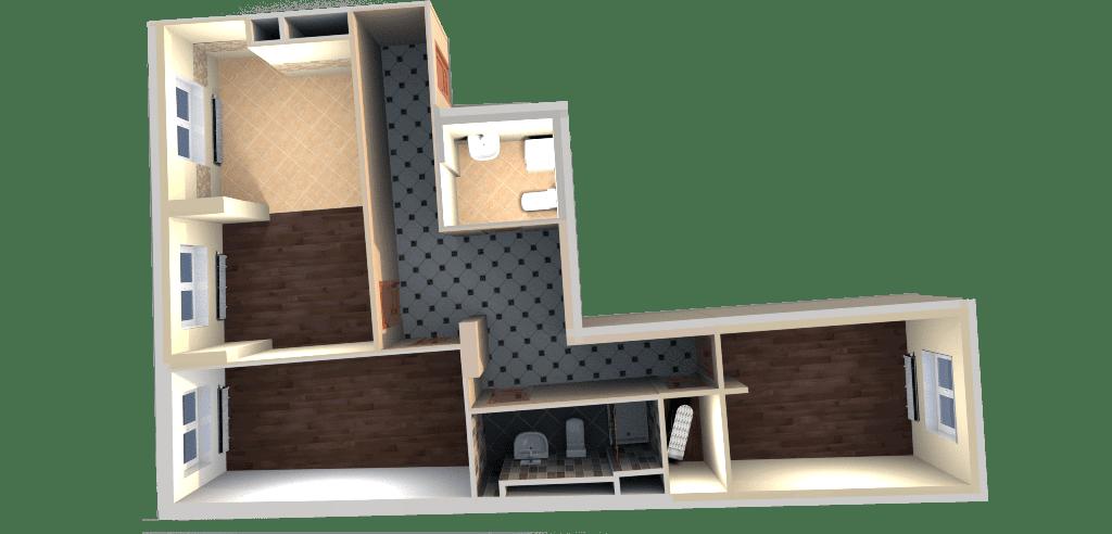 Дизайн проект, 3D макет квартиры Москва, ЖК Дом на Беговой