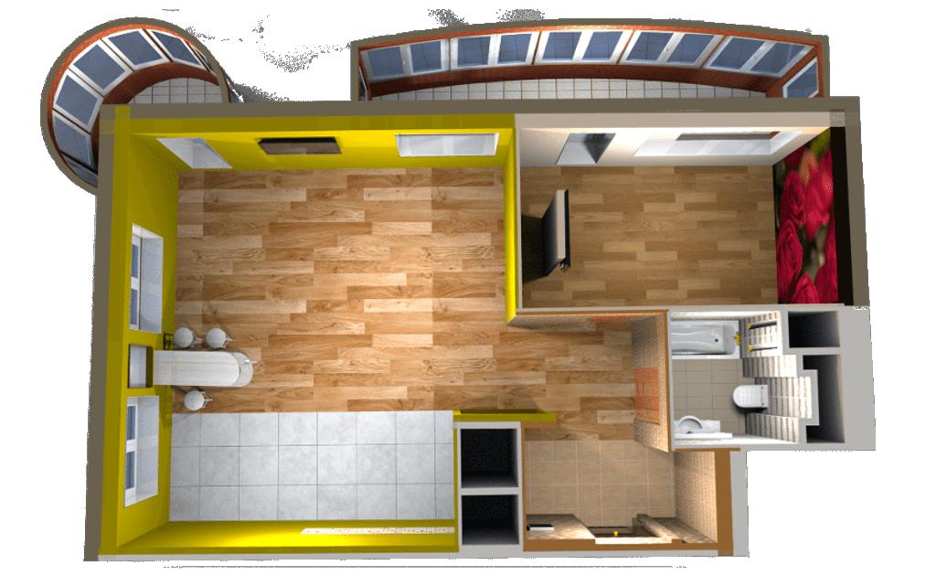 Дизайн проект квартиры 3D макет пгт Новоивановское, улица Калинина, дом 8