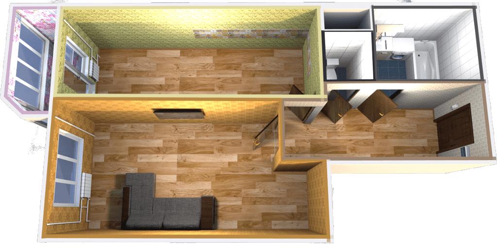 Дизайн проект, 3D визуализация квартиры Московская область, ЖК Новоснегиревский